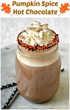 Easy and delicious drink for fall - Pumpkin Spice Hot Chocolate!