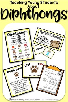 Diphthongs and special vowel sounds can be tricky for young readers, but not when they are taught effectively in an engaging way! This unit has everything you need to teach and practice these essential phonics skills!