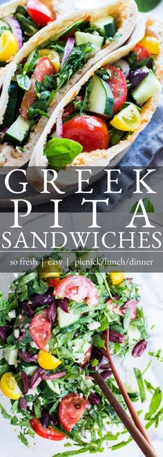 Best Vegetarian Sandwiches, Vegan Sandwich Recipes, Healthy Sandwiches, Vegetarian Recipes, Healthy Recipes, Healthy Eats, Pita Bread Sandwich, Sandwiches For Lunch, Greek Pita