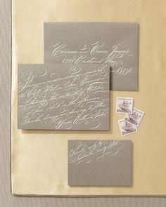 calligraphy #envelope #handlettering #wedding #invitation #calligraphy #details