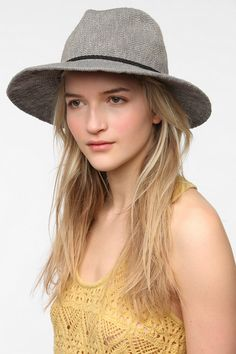 Nubby Floppy Panama Hat UO- I simply love this thing...I need my hair to grow though because it looks so much better with long wavy hair or a side braid