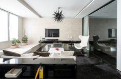 salon moderne design Alexandra Fedorova style graphique