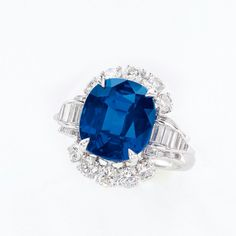 7.68-carat Kashmir Sapphire and Diamond Ring, Harry Winston. Sotheby's Hong Kong Magnificent Jewels and Jadeite 8 April 2013
