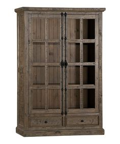 Aged Gray Double-Door Cabinet | zulily
