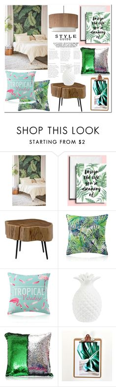 """Tropical Home"" by homelava ❤ liked on Polyvore featuring interior, interiors, interior design, home, home decor, interior decorating, Assembly Home, Moe's Home Collection and Lights Up!"