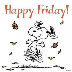 Peanuts ~ Cartoon character Snoopy dancing among the falling Autumn leaves Good Morning Snoopy, Good Morning Happy Sunday, Good Morning Quotes, Happy Weekend, Friday Weekend, Weekend Fun, Wednesday, Tuesday, Peanuts Cartoon