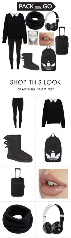 """""""#packandgo"""" by youtubecrazyxx ❤ liked on Polyvore featuring Dorothy Perkins, Essentiel, UGG, Topshop, Mark Cross, Helmut Lang and Beats by Dr. Dre"""