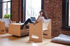 Diseño de muebles - The Good Mod - plywood-lounge-chair