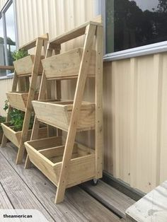 Wooden 3 tier planter box