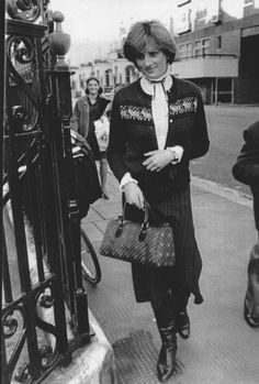 """upi.com:  """"Lady Diana Spencer, age 19, who is being wildly reported in some Fleet Street papers to marry Prince Charles, leaves her home on November 12, 1980. Reports are that the announcement will be made Friday 11/14, when Charles celebrates his 32nd birthday. The heir to the throne has been auditioning future queens for 12 years. Buckingham Palace say """"there is nothing imminent, and an engagement announcement is pure speculation"""" (UPI Photo/B. Smith/FILES)"""""""