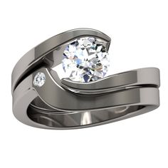 Stella Diamond Solitaire | Titanium Rings, Titanium Wedding Bands, Diamond Engagement Rings | Product
