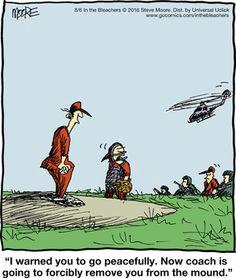 In the bleachers cartoon strip
