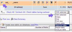 How to Optimize & Reduce size of MySql Database?