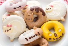 Cute and kawaii animal Donuts