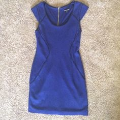 Express Dress Never worn! In brand new condition! This Express dress is perfect for all occasions. It fits true to size (size 6). It hugs the curves but is not skin tight- it is flattering in all the right places. It is knee length, zips all the way down the back, & is super comfortable. Express Dresses