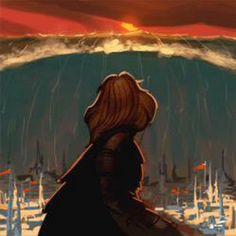 Саурон видит гибель Нуменора