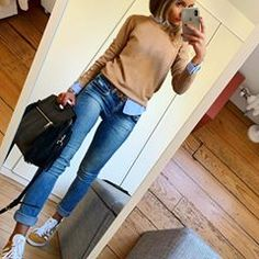 omme un mercredi ✔️ # bequemes # Outfit # ootd # dailylook # instafashion # fashionpost # fa . Casual Work Outfits, Mode Outfits, Work Casual, Stylish Outfits, Fashion Outfits, Instagram Outfits, Instagram Mode, Instagram Fashion, Comfy Casual