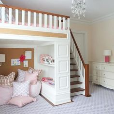 Kids Loft Bed, Transitional, girl's room, Nightingale Design