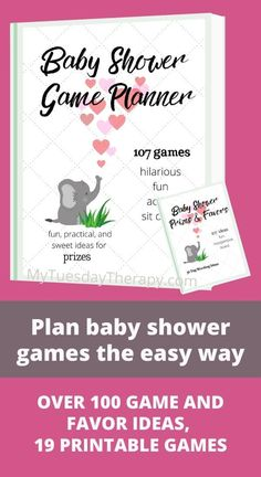 Create a baby shower game plan in easy steps with the baby shower game planner. It has over 100 ideas from hilarious baby shower games to fun activities Baby Shower Prizes, Cheap Baby Shower, Simple Baby Shower, Fun Baby Shower Games, Baby Shower Favors, Baby Boy Shower, Baby Showers, Baby Shower Games For Large Groups, Baby Word Scramble