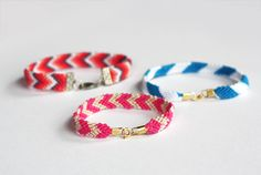 How to add clasps to friendship bracelets by howaboutorange: Much more polished than 'leave on until it falls off'! #DIY #Friendship_Bracelet