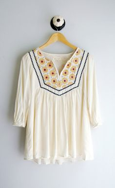 Ivory Peasant Blouse- Back Order 6/30/2014