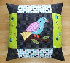 what a cute patchwork pillow!
