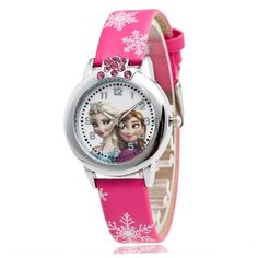 Intelligent Disney Luxury Cartoon Children Watch Kids Watches Girls Princess Fashion Wrist Watches Kids Cute Leather Quartz Watch Girl Carefully Selected Materials Children's Watches