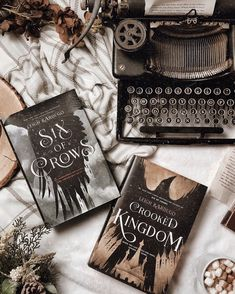Good evening! . Can you pick a favorite Leigh Bardugo book? . I think maybe Six of Crows is my favorite? Ack but Shadow and Bone! I love them all! Today is the start of April so you know what that means? SHADOW AND BONE SHOW THIS MONTH!! Did you see the full trailer?? . . . Hashtags #sixofcrows #crookedkingdom #thedregs #nomournersnofunerals #leighbardugo #flatlaystyle #bookishflatlay #vintagestyle #readersofinstagram #bookstagrammer #igreads #darkacademia #darkaesthetic #grishaverse #fangirl # Crow Books, Ya Books, Books To Read, Bone Books, Crooked Kingdom, Six Of Crows, Coffee And Books, The Fault In Our Stars, Book Aesthetic