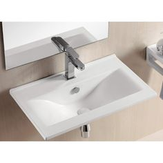 "Caracalla Ceramica II Bathroom Sink  24.41""W x 15.35""D x 6.69""T"