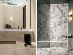 Four Bathroom Tile Trends to take us into 2021 - Tile Space Terrazzo Tile, Tiles, Large Format Tile, Gray Rock, Valentines Design, Smart Styles, Bathroom Styling, Trends, Space