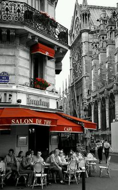 one must sit outside at a Paris cafe: that's where life goes by.