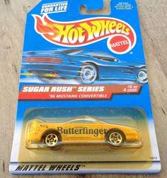 Hot Wheels Butterfinger 96 Mustang Convertible New in package #744 #HotWheels