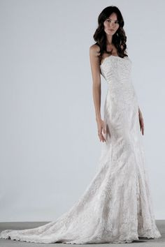 """Henry Roth - Kelsey"" Really like this... I guess this is the shape of wedding dress I want."