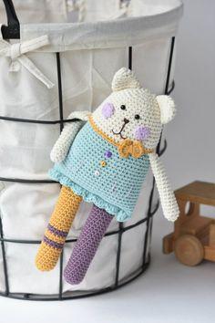 Rag doll inspired cat Amigurumi toys by lilleliis