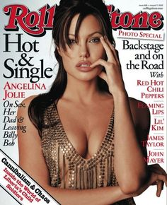 "Angelina Jolie was hot & single. | 15 ""Rolling Stone"" Covers That Immortalized 2003 In Pop Culture"
