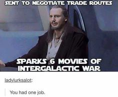 The best memes and pics from the corners of the internet. Get more memes and funny pictures as people upload them to our site Simbolos Star Wars, Star Wars Jokes, Star Wars Party, Funny Videos, Funny Memes, Hilarious, Funny Quotes, Liam Neeson, Prequel Memes