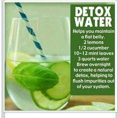 Lemon cucumber mint infused water