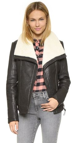 Mackage Cicely Shearling Leather Jacket   SHOPBOP