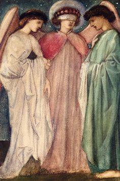 BURNE-JONES, Edward British Pre-Raphaelite (1833-1898)_The First Marriage