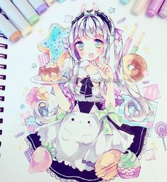 Hii~ How were your weekends? ;v; I've been inactive because I've been busy packing and preparing to return to Toronto and my flight is tmr morning so hopefully I'll be back online soon. . . #copicmarkers #copicmultiliner #micronpen #bristolpaper #whitegelpen