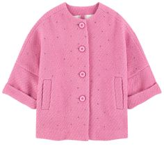 Wool blend Synthetic lining Half-length cut Comfortable loose fit Crew neck Long sleeves Piped pockets Buttons on the front Fancy rhinestones Printed lining - $ 244