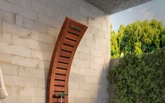 Wooden Outdoor Shower