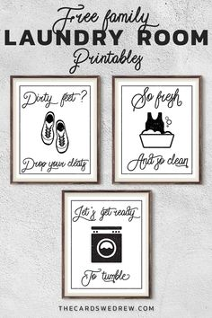 Free Farmhouse Laundry Room Printables for Moms - The Cards We Drew Laundry Room Wall Decor, Laundry Room Signs, Laundry Room Storage, Laundry Rooms, Laundry Cupboard, Laundry Art, Laundry Closet, Room Decor, Tile Grout Cleaner