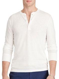 POLO RALPH LAUREN Cotton Jersey Henley. #poloralphlauren #cloth #henley