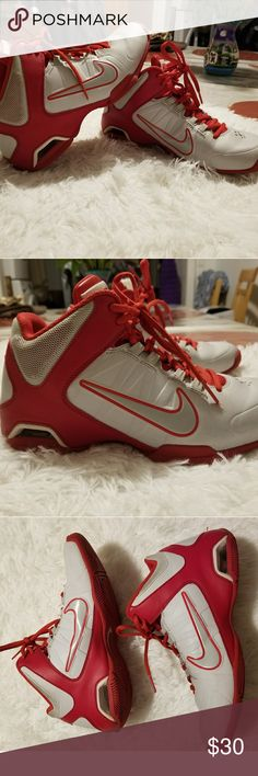 Nike   AIR VISI PRO4 Red/white sneakers. Good condition. Nike Shoes Sneakers
