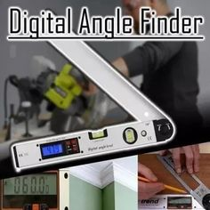 2 in 1 Digital Angle Finder Angle Calculator, Washing Machine Cleaner, Protractor, Diy Home Repair, Carpet Installation, Painting Tools, Wood Grain, Woodworking Tools, Woodworking Quotes