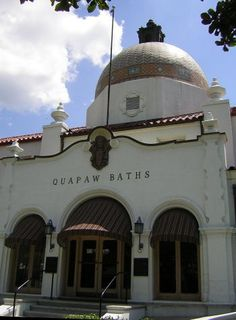 Quapaw Bathhouse - Hot Springs, Arkansas; restored, preserved and putting smiles on faces again.