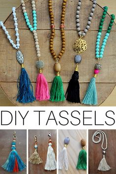 76 Crafts To Make and Sell - Easy DIY Ideas for Cheap Things To Sell on Etsy, Online and for Craft Fairs. Make Money with These Homemade Crafts for Teens, Kids, Christmas, Summer, Mother's Day Gifts. | DIY Beaded Tassle Necklaces | diyjoy.com/crafts-to-make-and-sell