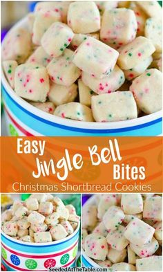 Jingle Bell Bites (Holiday Shortbread Cookies)