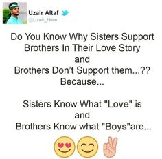 bt u gota understand somtimes Sister Quotes Funny, Brother Sister Quotes, Brother And Sister Love, Funny Quotes, Idiot Quotes, Funny Sister, Girly Quotes, True Quotes, Best Quotes